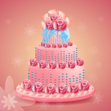 Birthday cake vector illustration stock vector