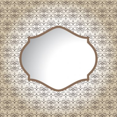 Vintage frame. vector illustration stock vector