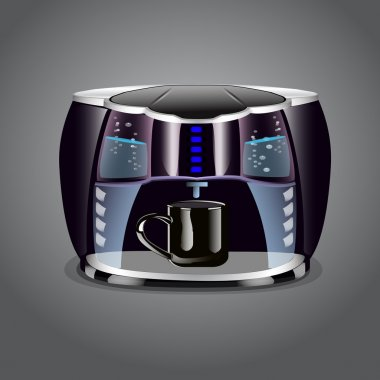 Coffee machine with cup stock vector