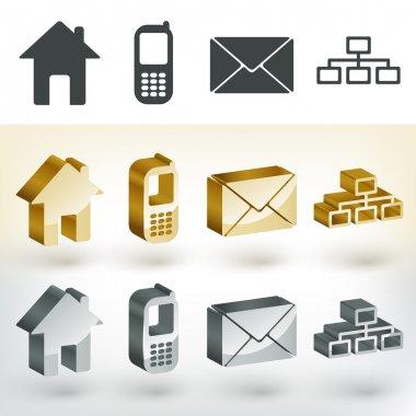 Vector communication icons,  vector illustration stock vector