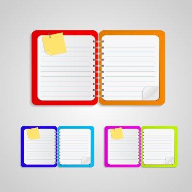 Vector Notepad paper, vector illustration stock vector