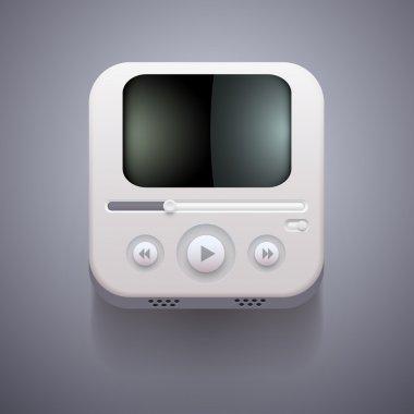 Media player vector icon stock vector