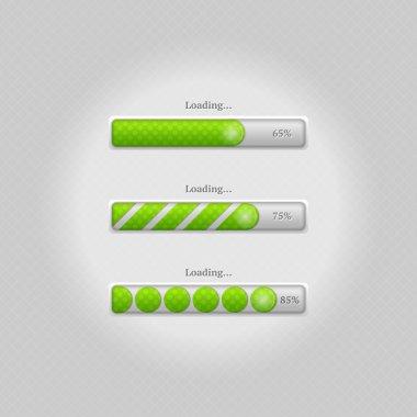 Vector loading bars. vector illustration stock vector
