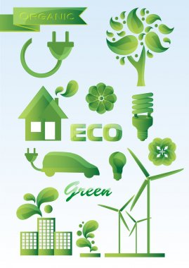 Ecology icon set. vector illustration stock vector