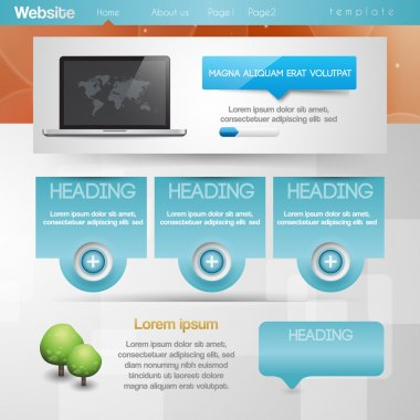 Website design template. vector illustration stock vector