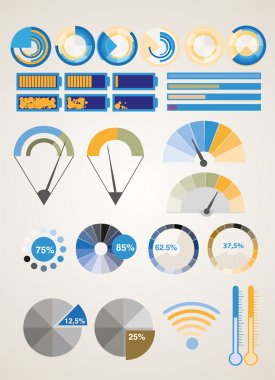 Vector infographic elements. vector illustration stock vector