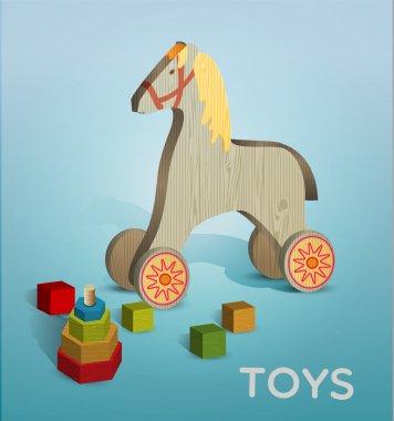 Vector illustration of toys. stock vector