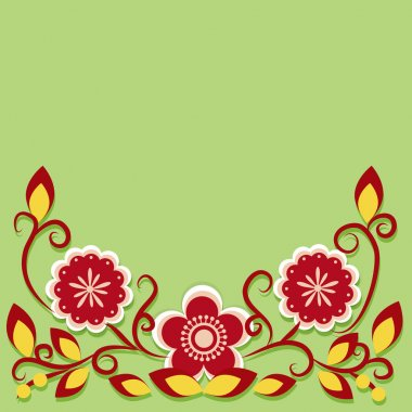 Greeting card with flowers. Vector. stock vector