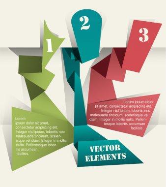 vektör origami geçmiş sayıları ile.