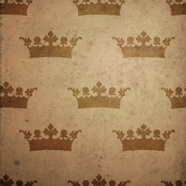 Vintage background with crown. stock vector