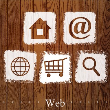 Vector set of web icons. stock vector