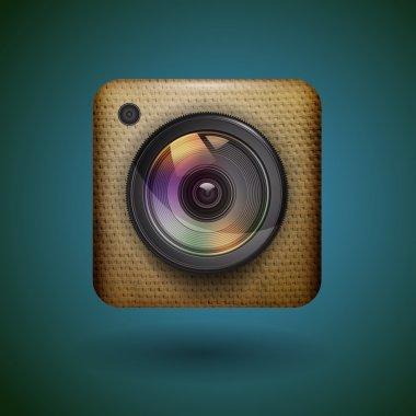 Photo camera icon. vector illustration stock vector