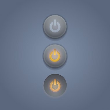 Vector set of power buttons. stock vector