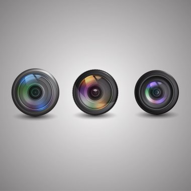 Vector set of photo camera icon. stock vector