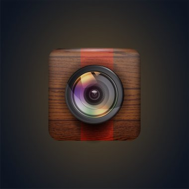 Photo camera icon. vector illustration stock vector
