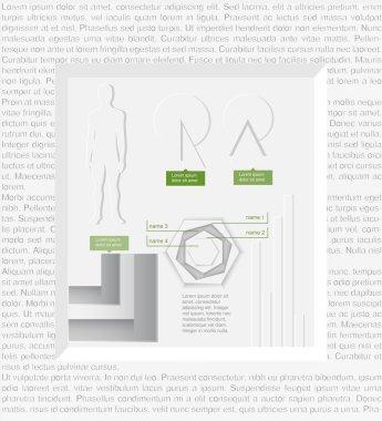 Vector infographic elements. vector illustration stock vector