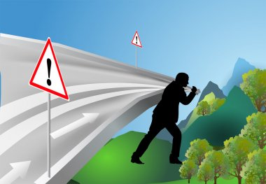 Man leads the way stock vector
