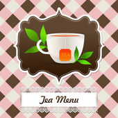 Tea menu.   vector illustration