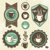 Set Of Vintage Retro Coffee stamp