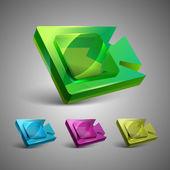 Vektorové ikony, web známky