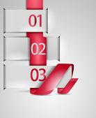 Steps process arrows. Vector.