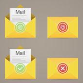 E mail icon. Vector illustration