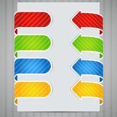 Arrow stickers set  vector illustration