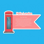 London scrapbook element  vector illustration