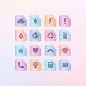 Menu icons  vector illustration