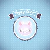 Šťastné Velikonoce karty obrázek retro vintage s Velikonoční zajíček