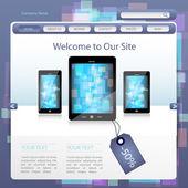 Website Design sablon vektoros illusztráció