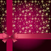 elegante Urlaubshintergrund mit Geschenk rosa Schleife und Schleife. Vektor