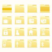 vektorové složky ikony nastavit