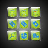 Prodej ikony. Vektorové ilustrace vektorové