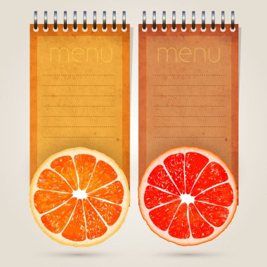 Menu for juices and fresh stock vector