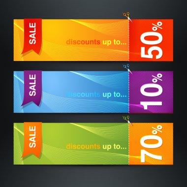Discount labels.   vector illustration stock vector