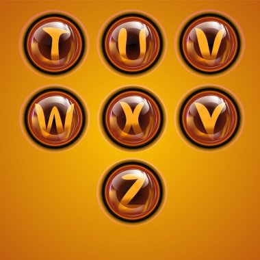 Gold letters, vector, education stock vector