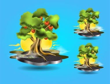 Vector tree icons,   vector illustration stock vector
