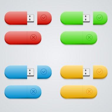 Universal flash drive  vector illustration stock vector