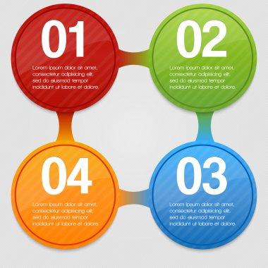 Four steps process - design element. Vector. stock vector