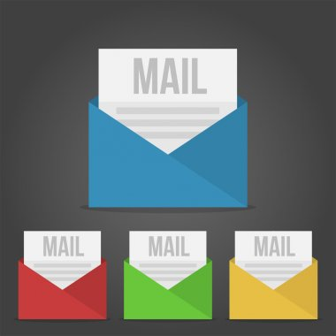 E mail icon. Vector illustration stock vector