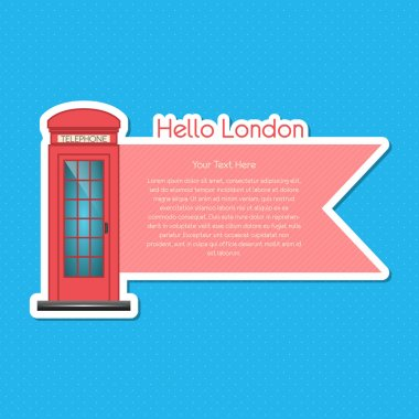 London scrapbook element  vector illustration stock vector