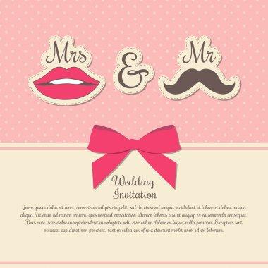 Wedding invitation card  vector illustration stock vector