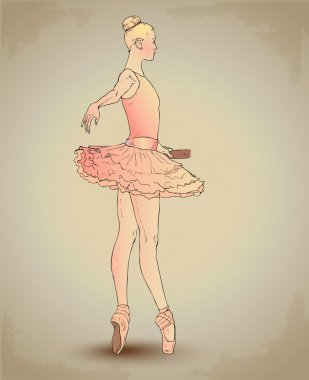 Beautiful Ballerina. Vector illustration. stock vector