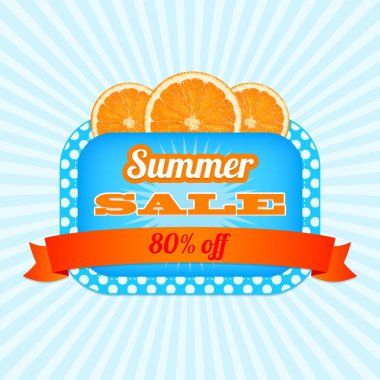 Summer Sale Icon.  vector illustration stock vector