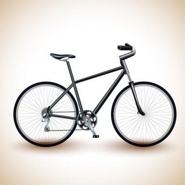 Vector illustration of a bike. stock vector
