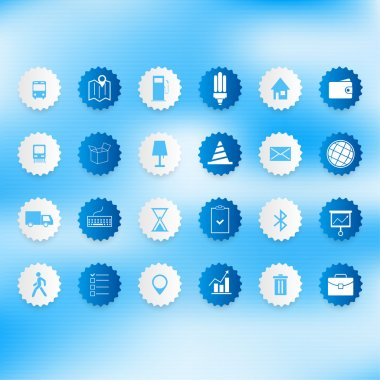 Set of icons on a theme communication. A vector illustration stock vector