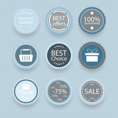 Set of retro vintage badges and labels. stock vector