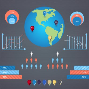 Vector infographics with a population stock vector