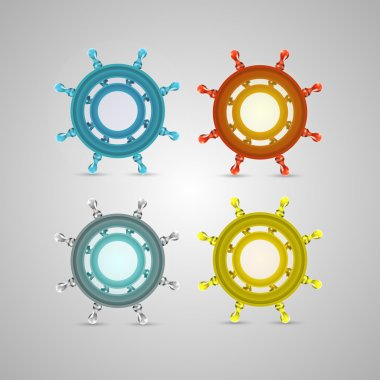 Ship wheel , steering vector illustration stock vector